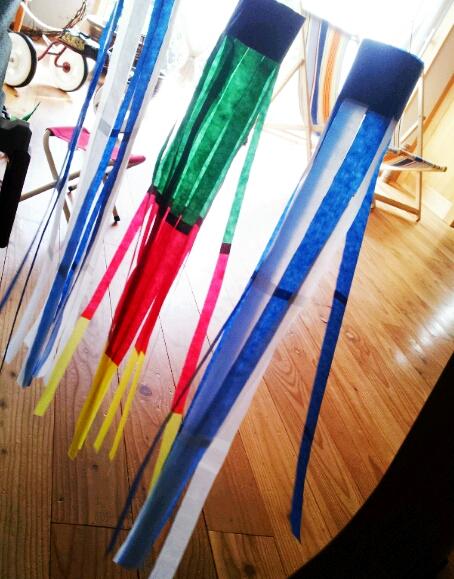 七夕飾り工作シリーズ3 ... : 七夕飾り 吹流し 作り方 : 七夕